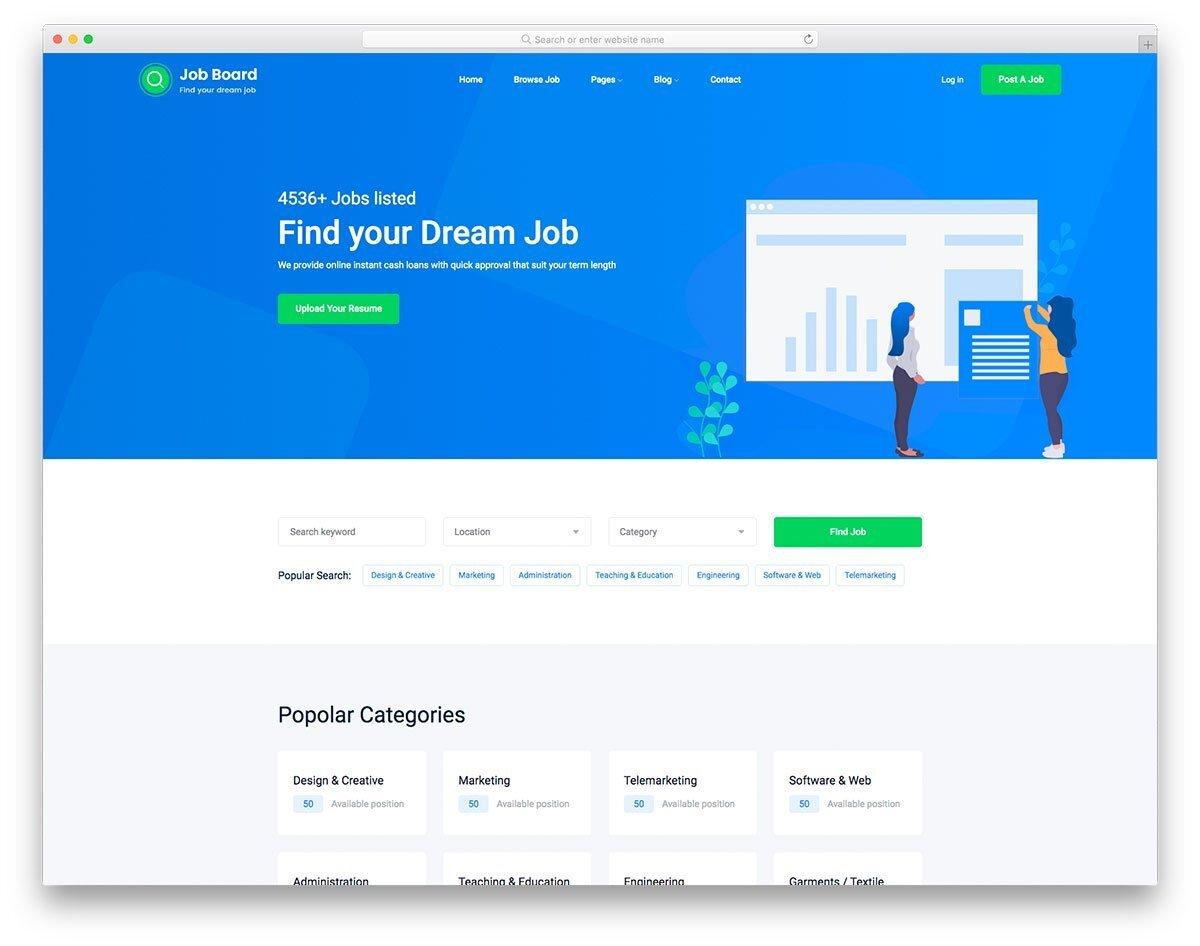interactive listin site template
