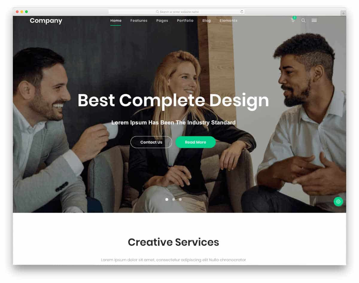 corporate and business website templates