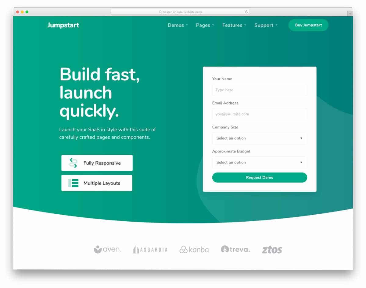 interactive Python website templates