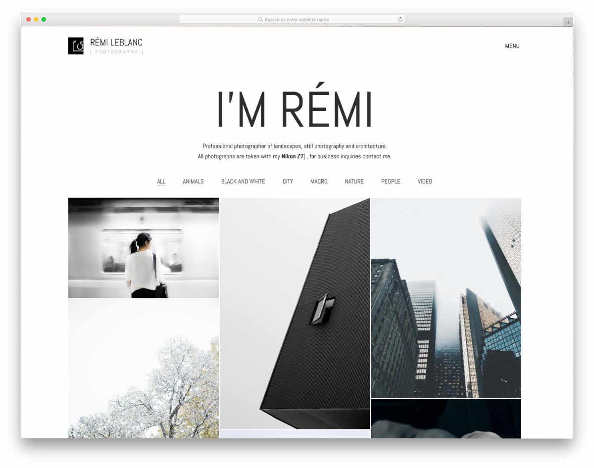 creative professional website template