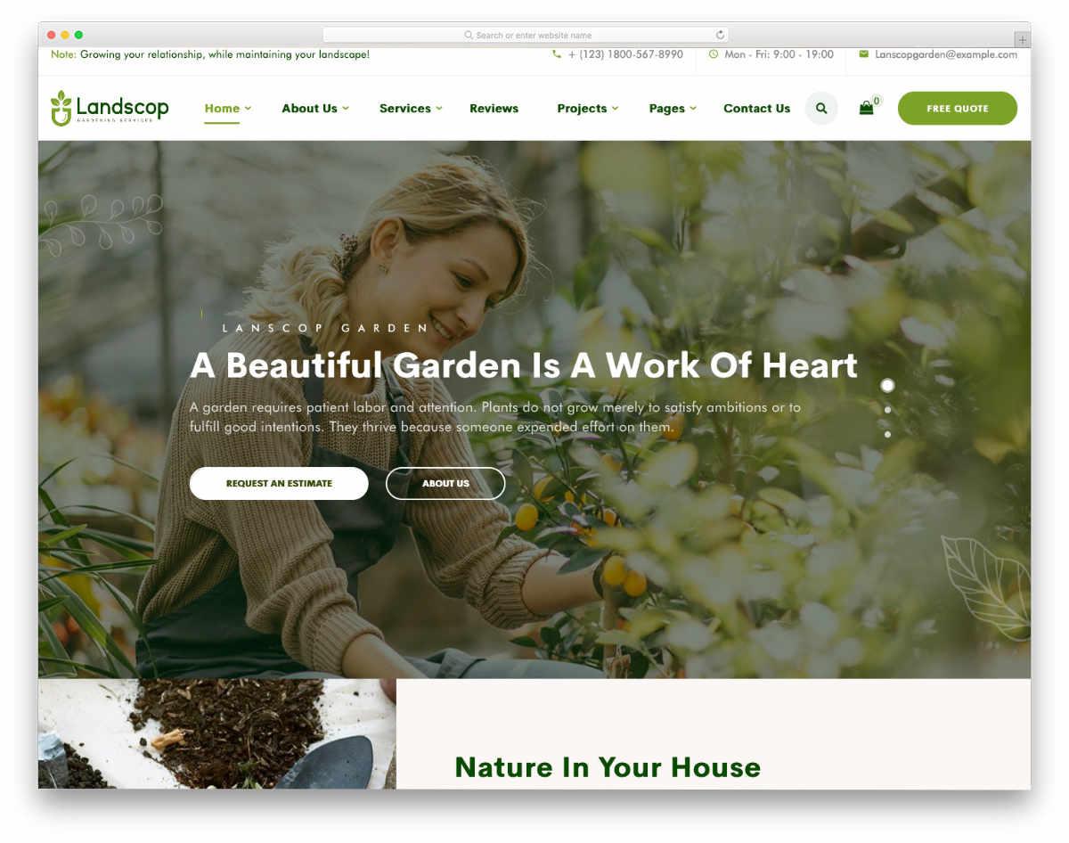 content-focused website template