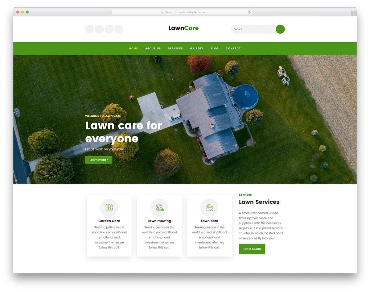 landscapping and gardening website template