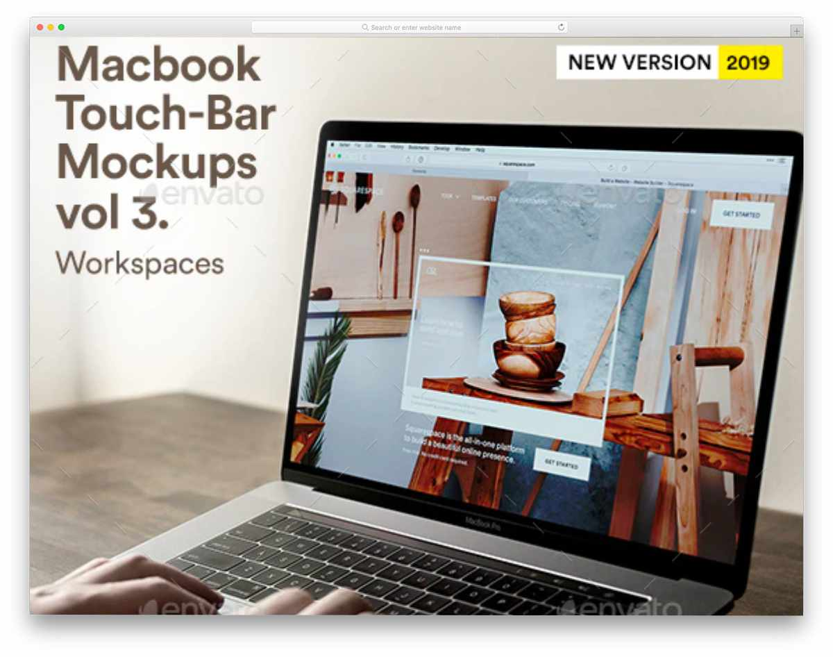 people using macbook mockup
