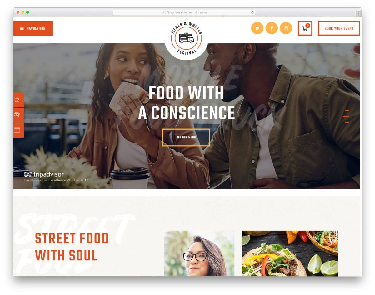food delivery and food truck WordPress themes
