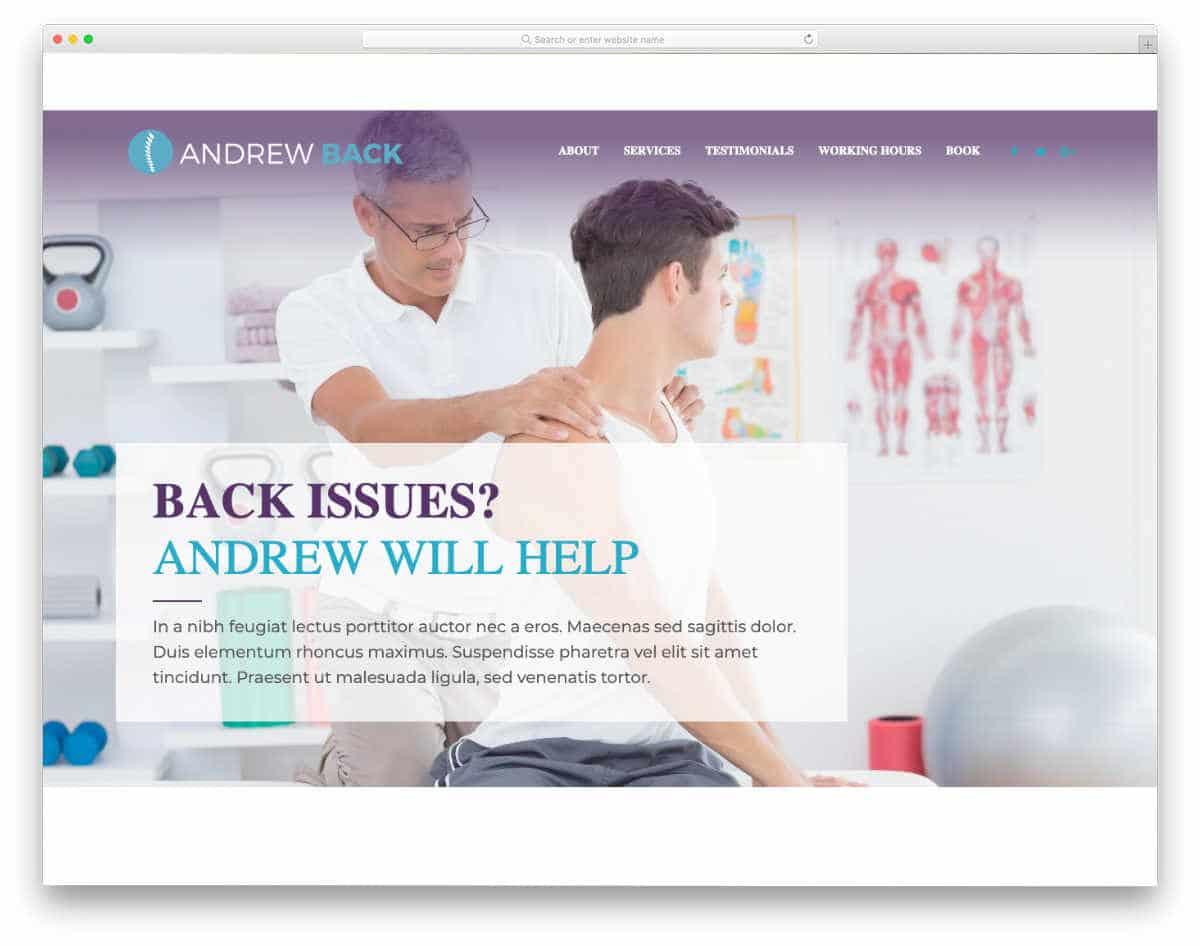 multipurpose medical website template