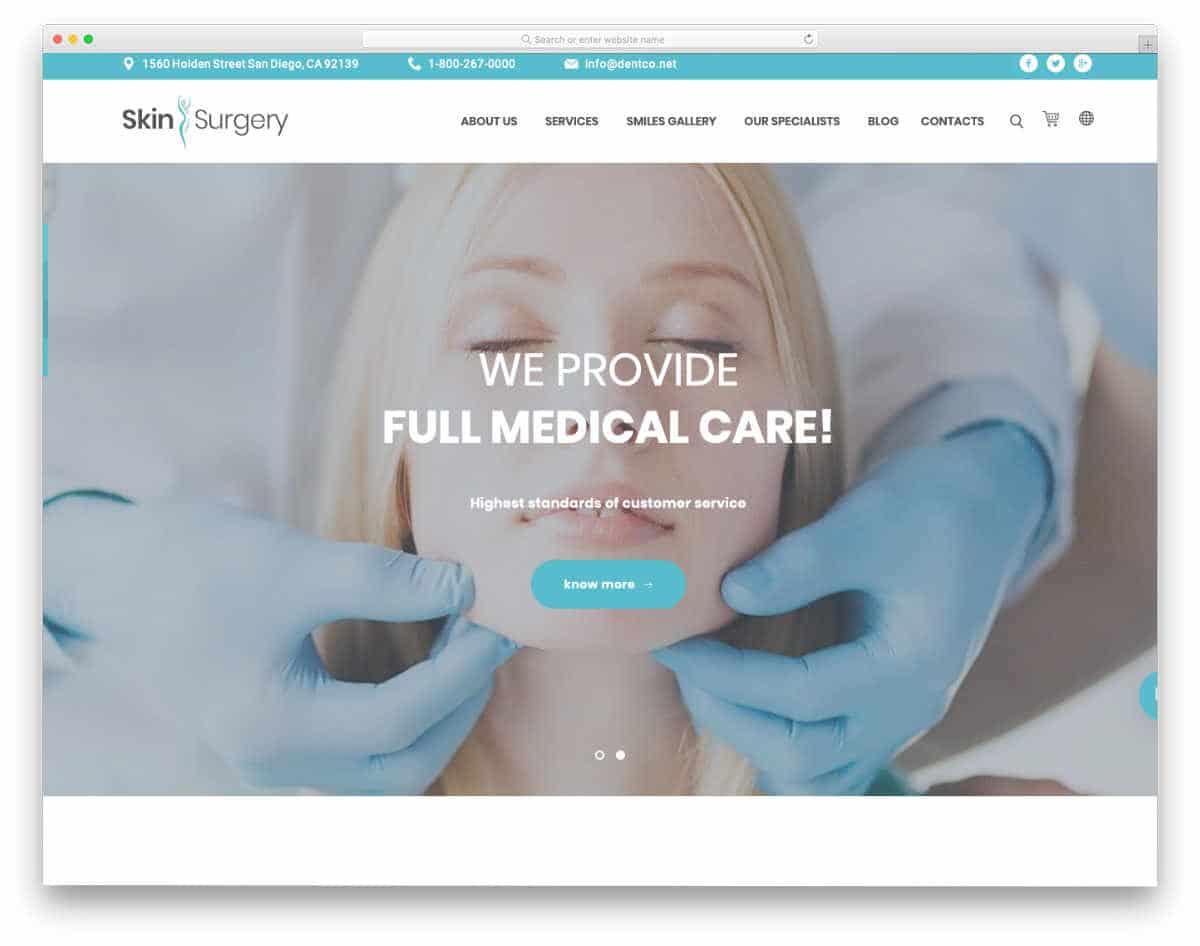 multipurpose health care website template