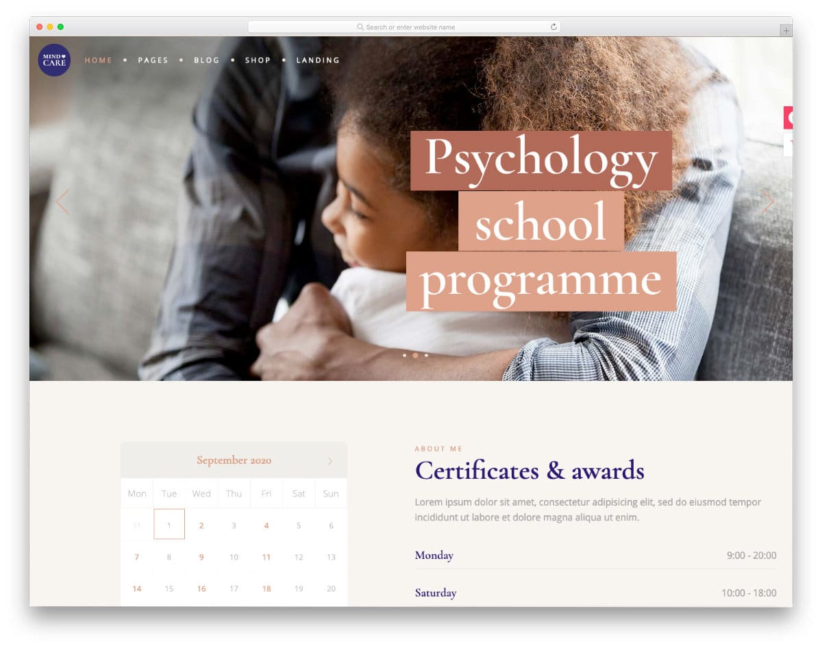 acupuncture and psychotherapy website template