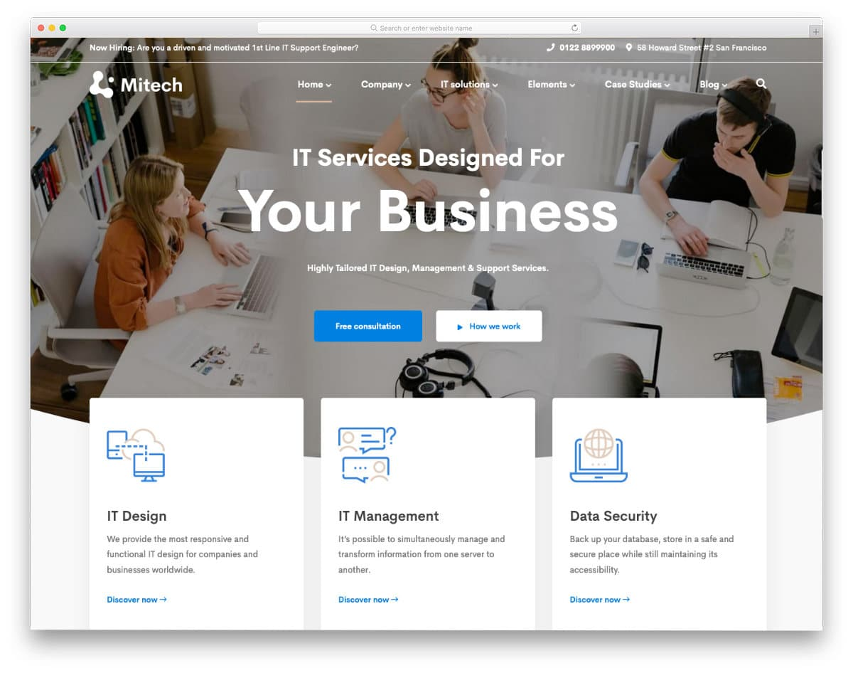 clean IT services website template