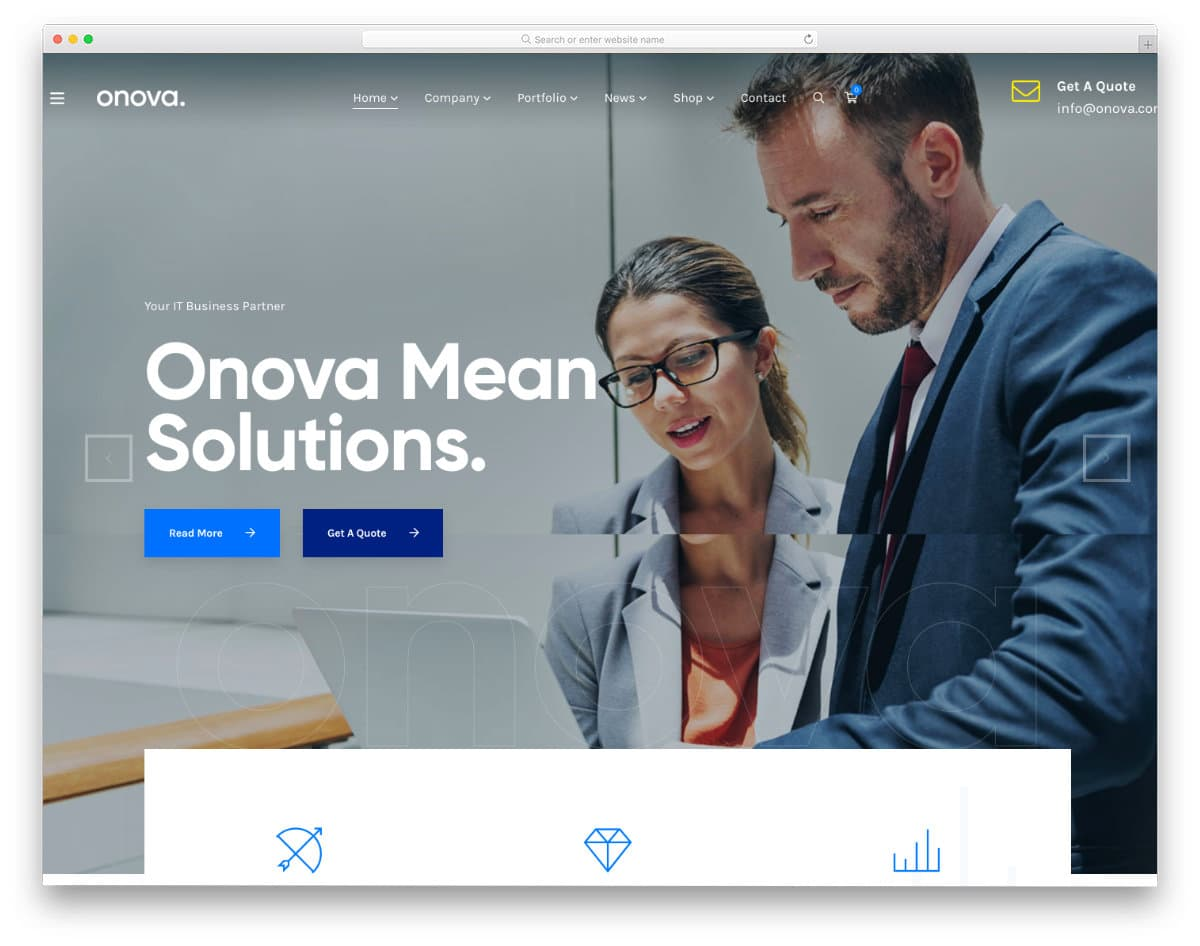 rich corporate-style website template