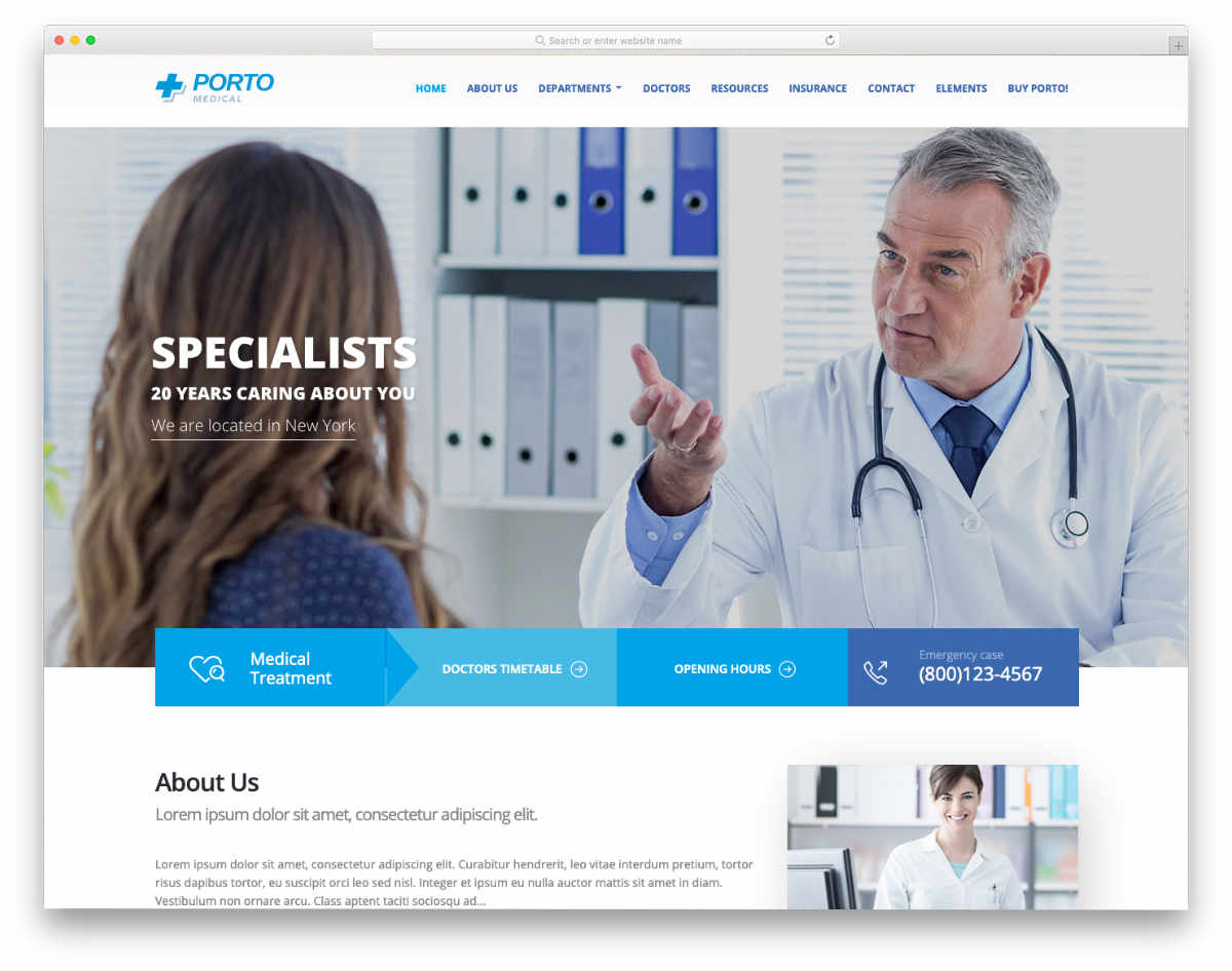 professional medical website template
