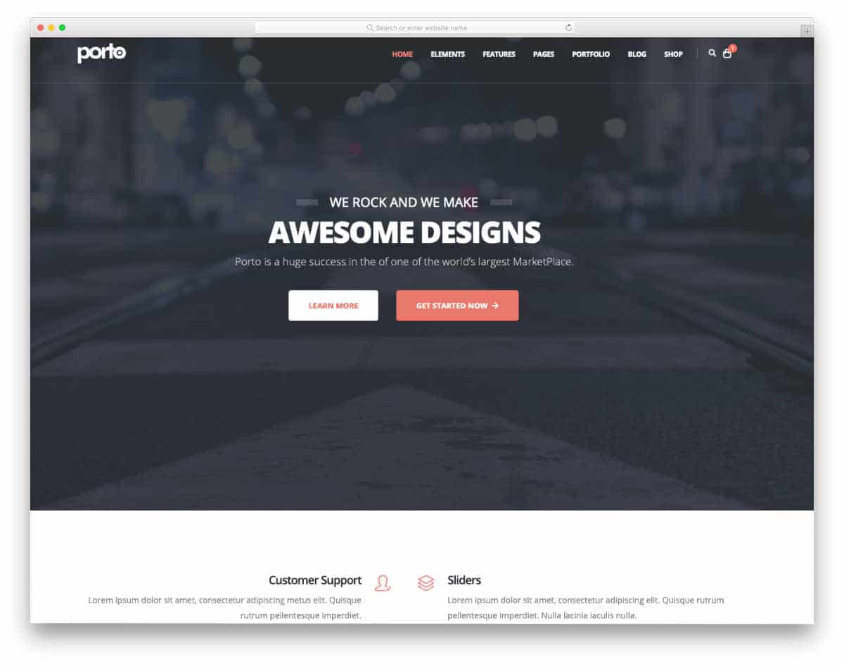 professional-looking flexible Python website templates