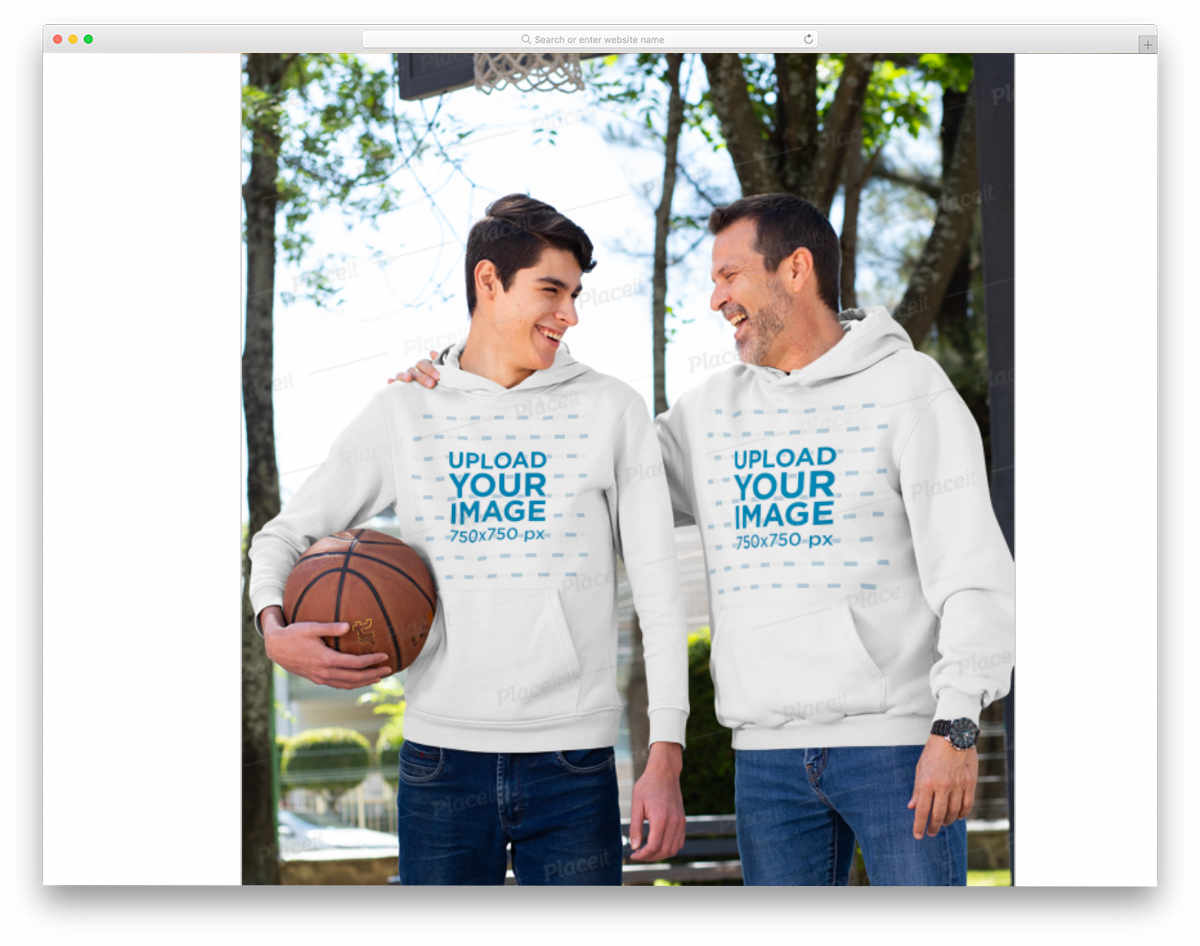 father son hoodie mockup