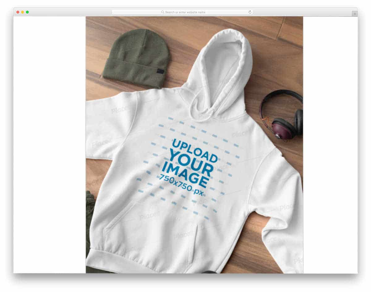hoodie mockup for product images