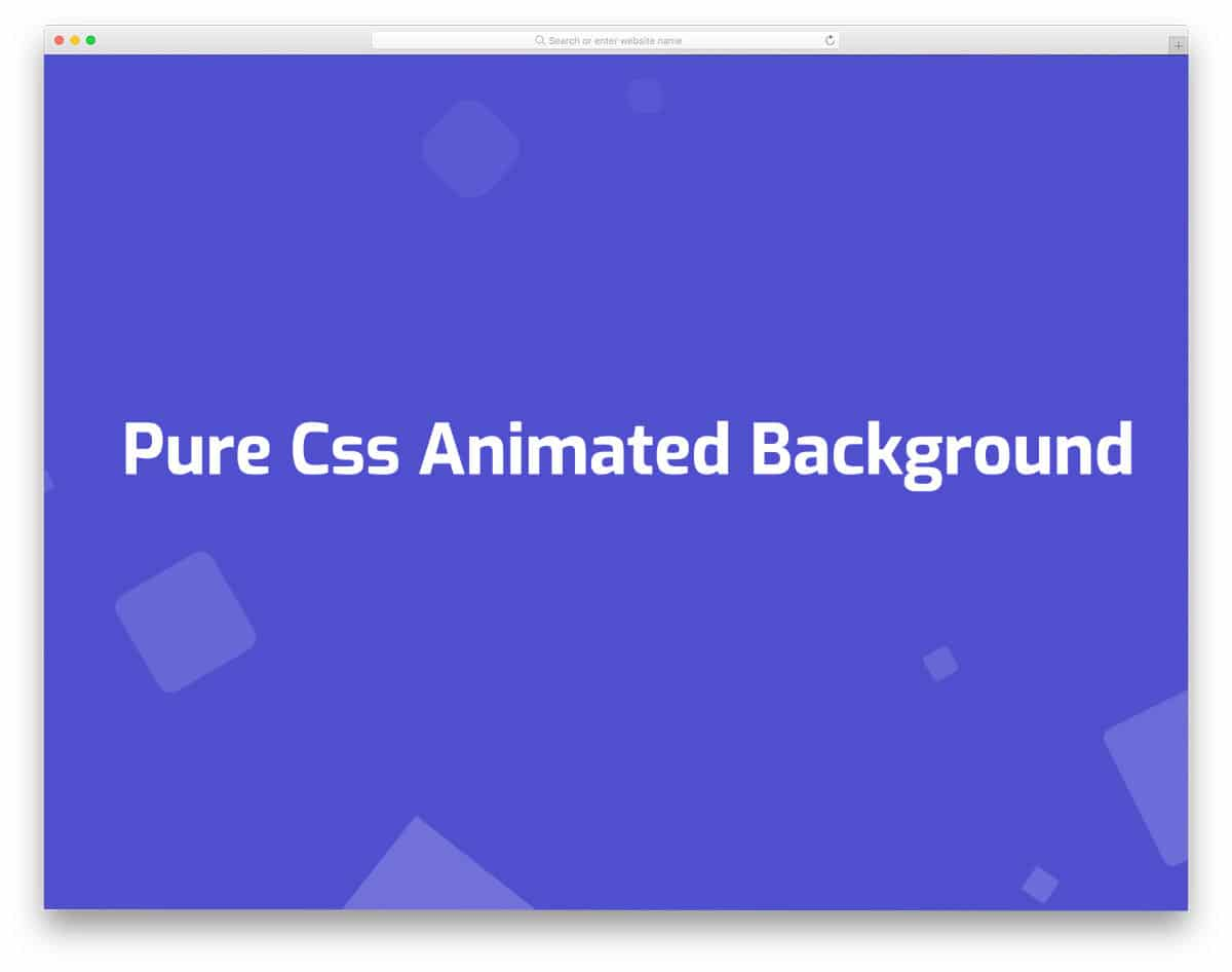 animated cube CSS background pattern