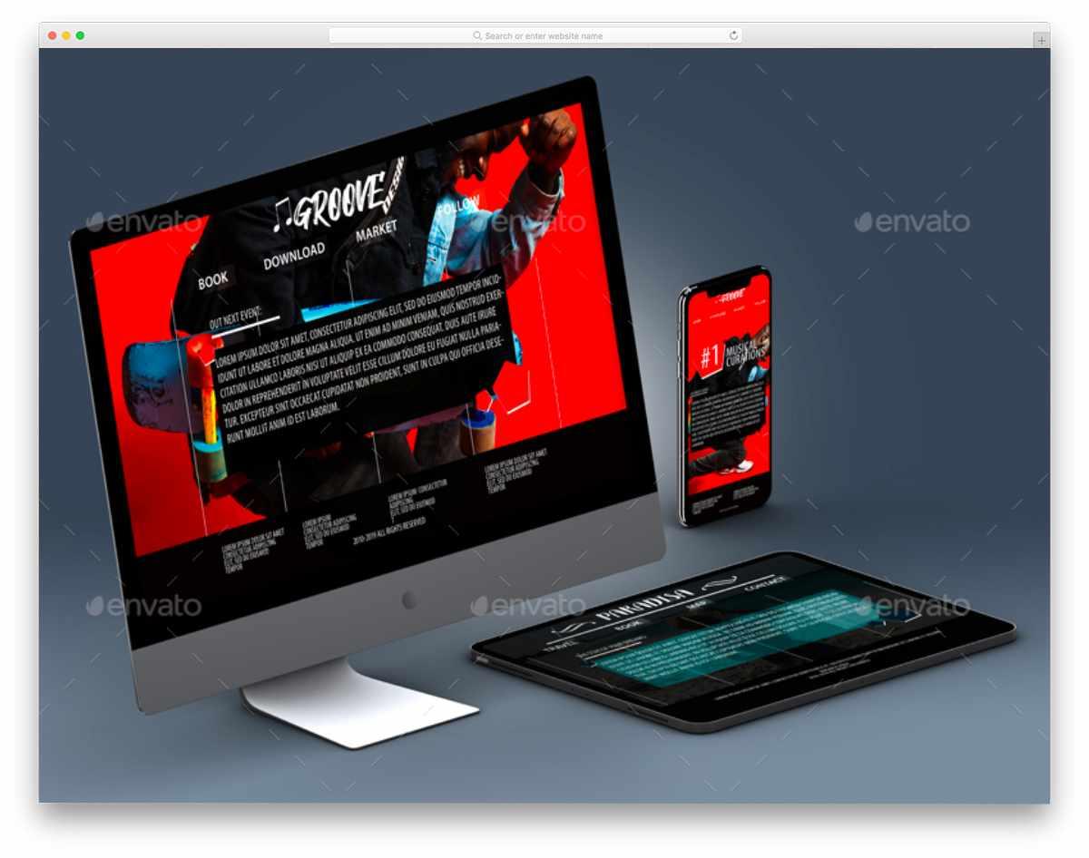 responsive design iMac mockup