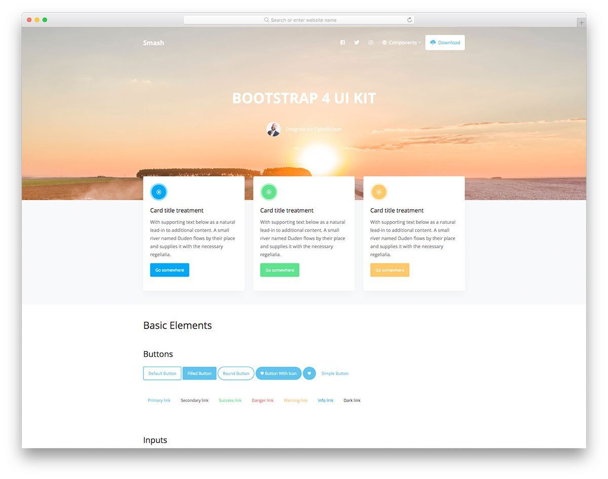 interactive mobile and website UI kit