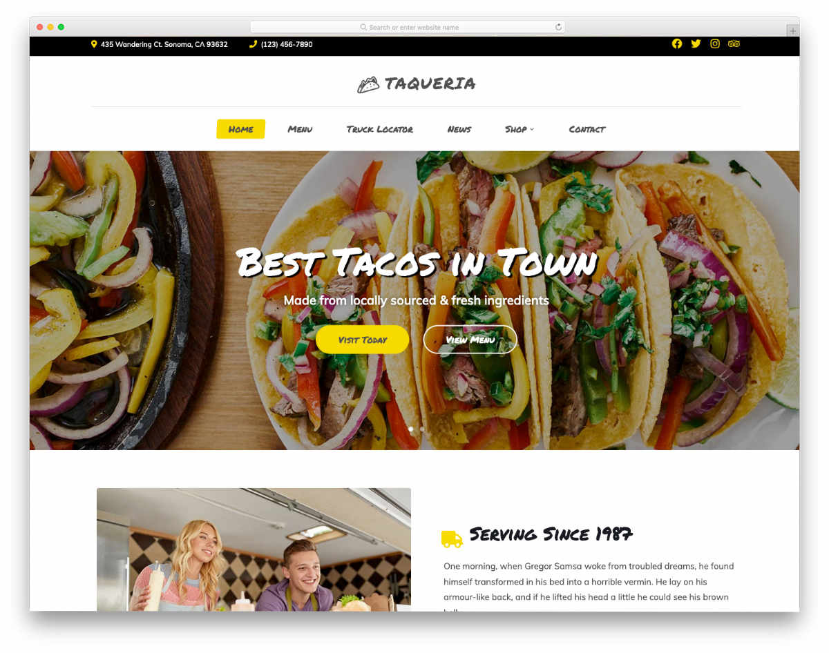 clean and colorful website template