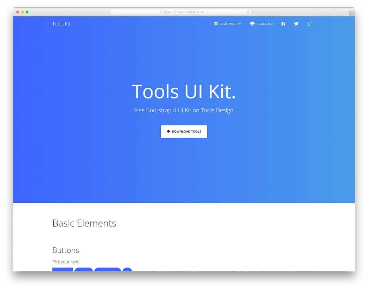 bootstrap free UI kits