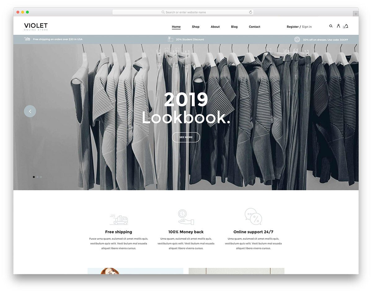 simple and clean website template