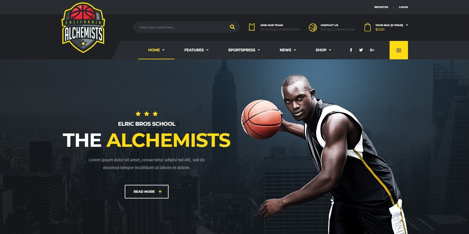 alchemist-softball-website-template-wordpress