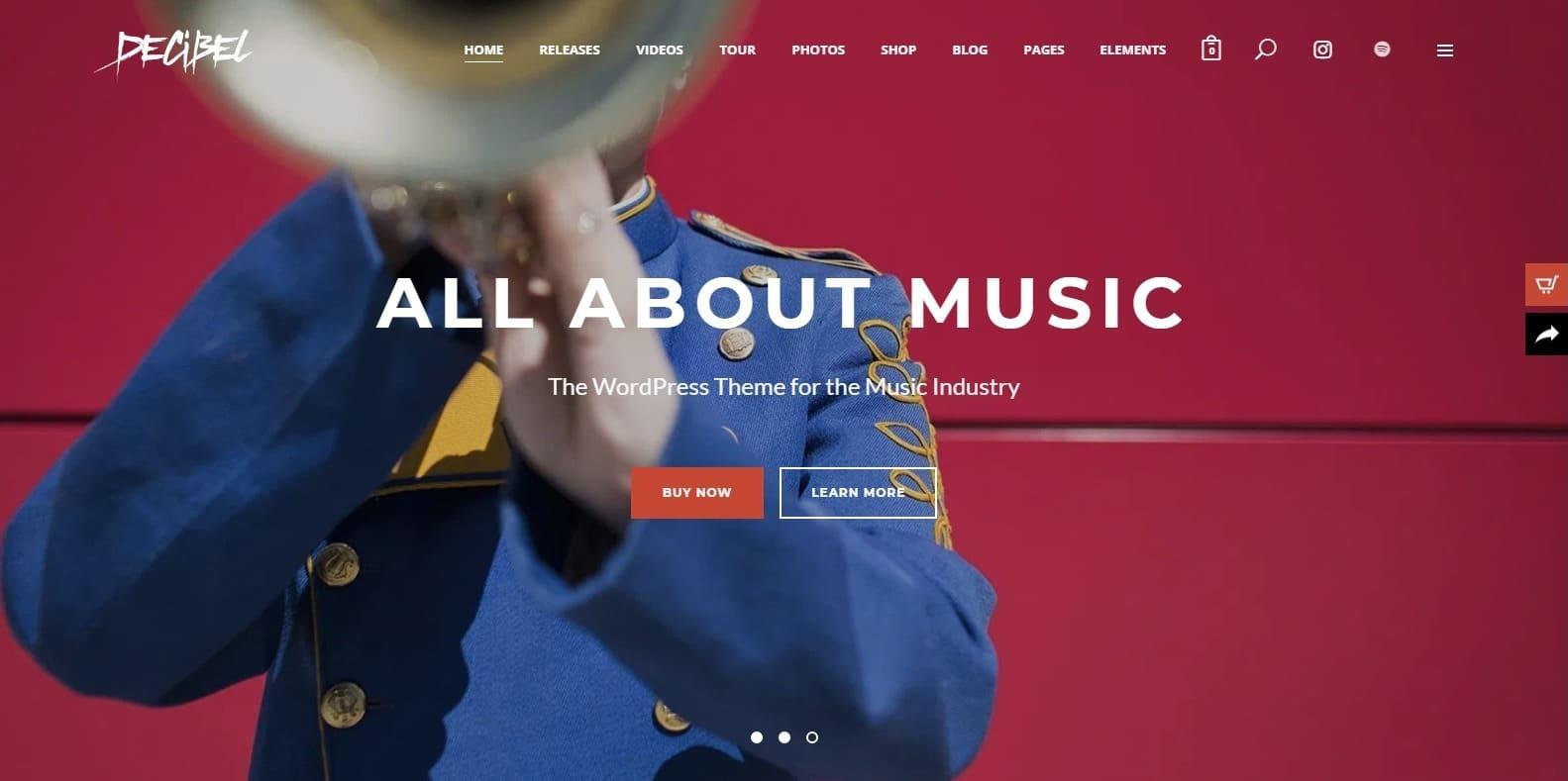 decibel-recording-studio-website-template
