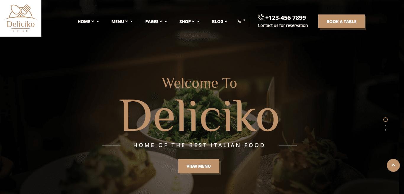 deliciko-restaurant-website-template