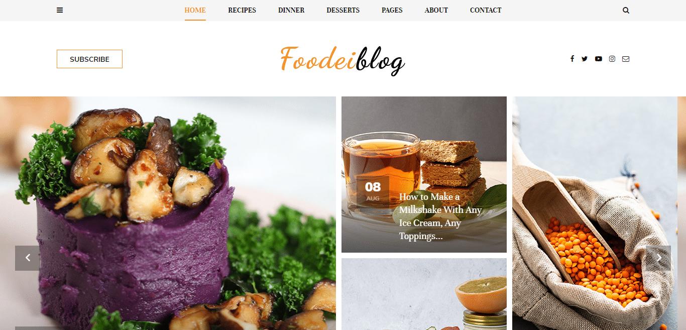 foodieblog-blogger-website-template