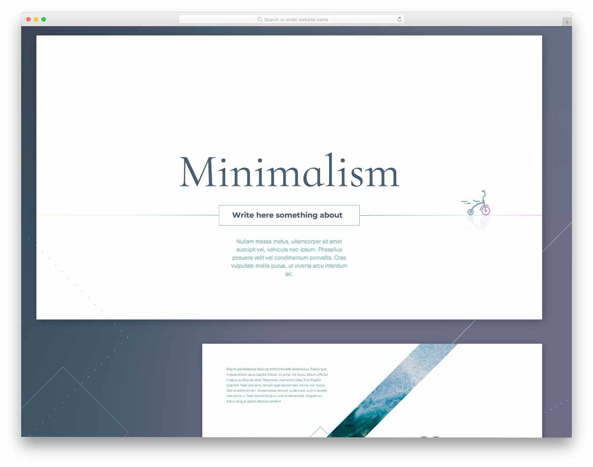 powerpoint template with a minimal design