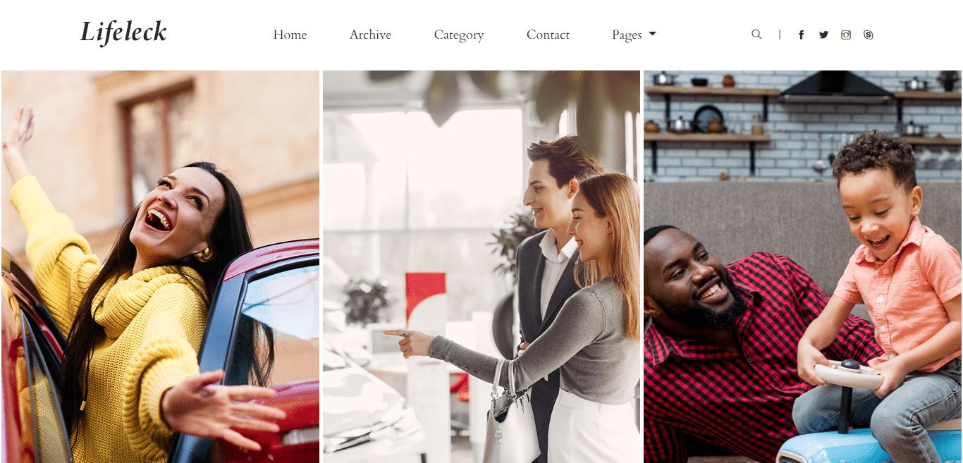 lifeleck-blogger-website-template