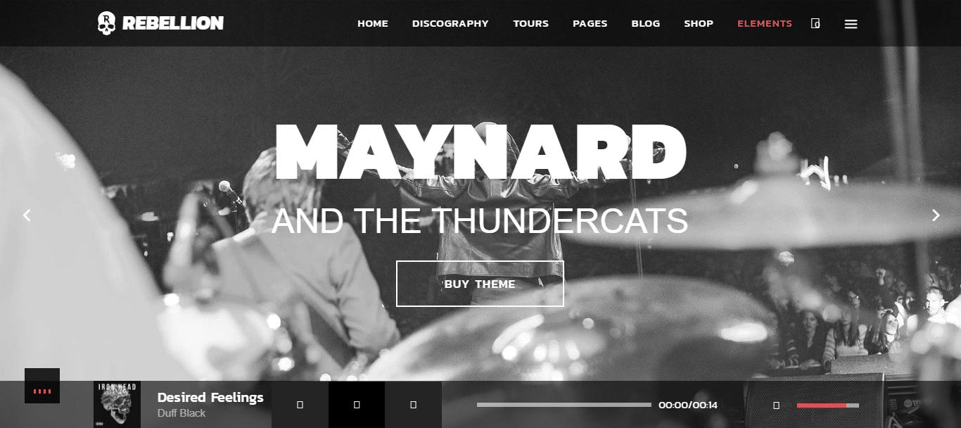 maynard-sound-recording-website-template