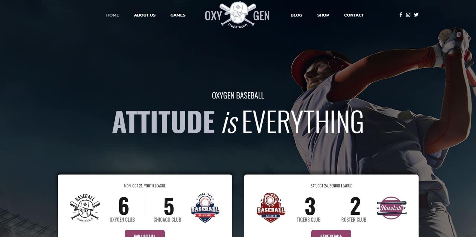 oxigeno-softball-website-template-wordpress