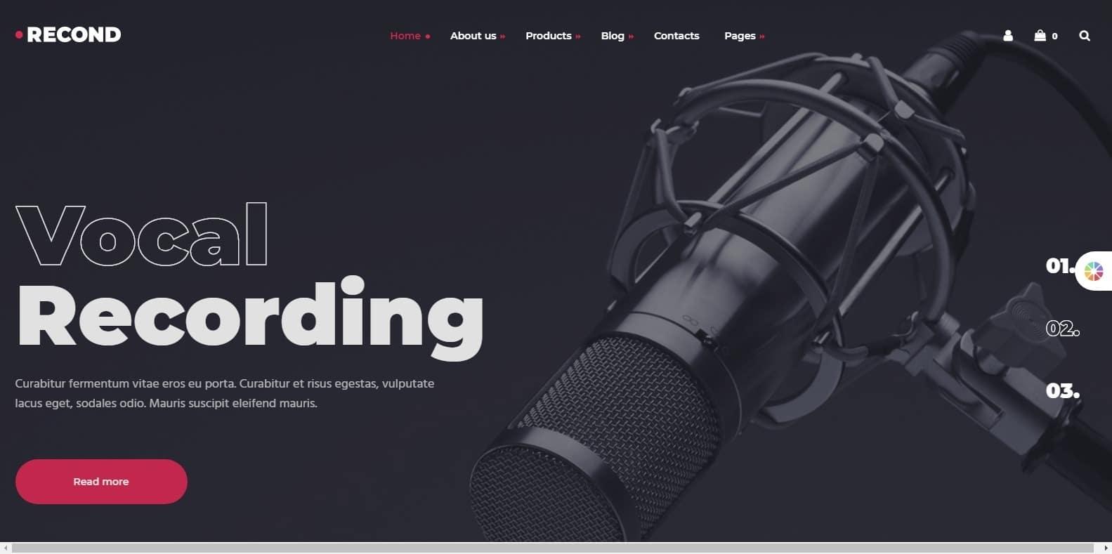 recond-recording-studio-website-template