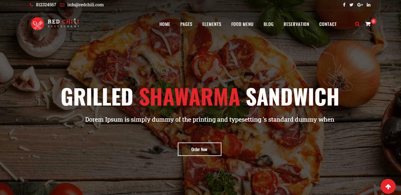 redchilli-restaurant-website-template