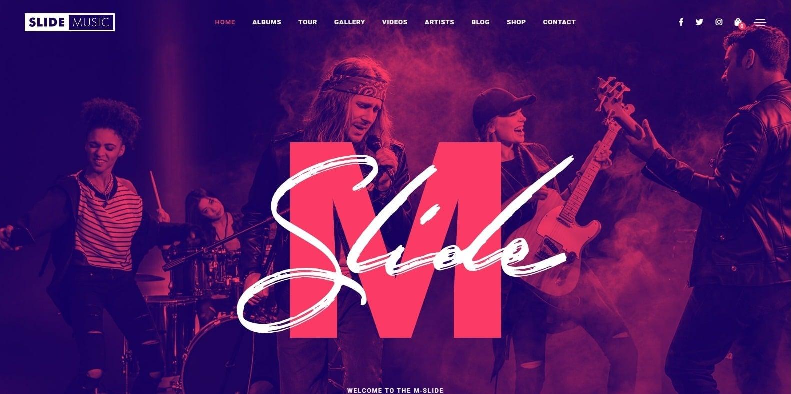 slide-music-recording-studio-website-template
