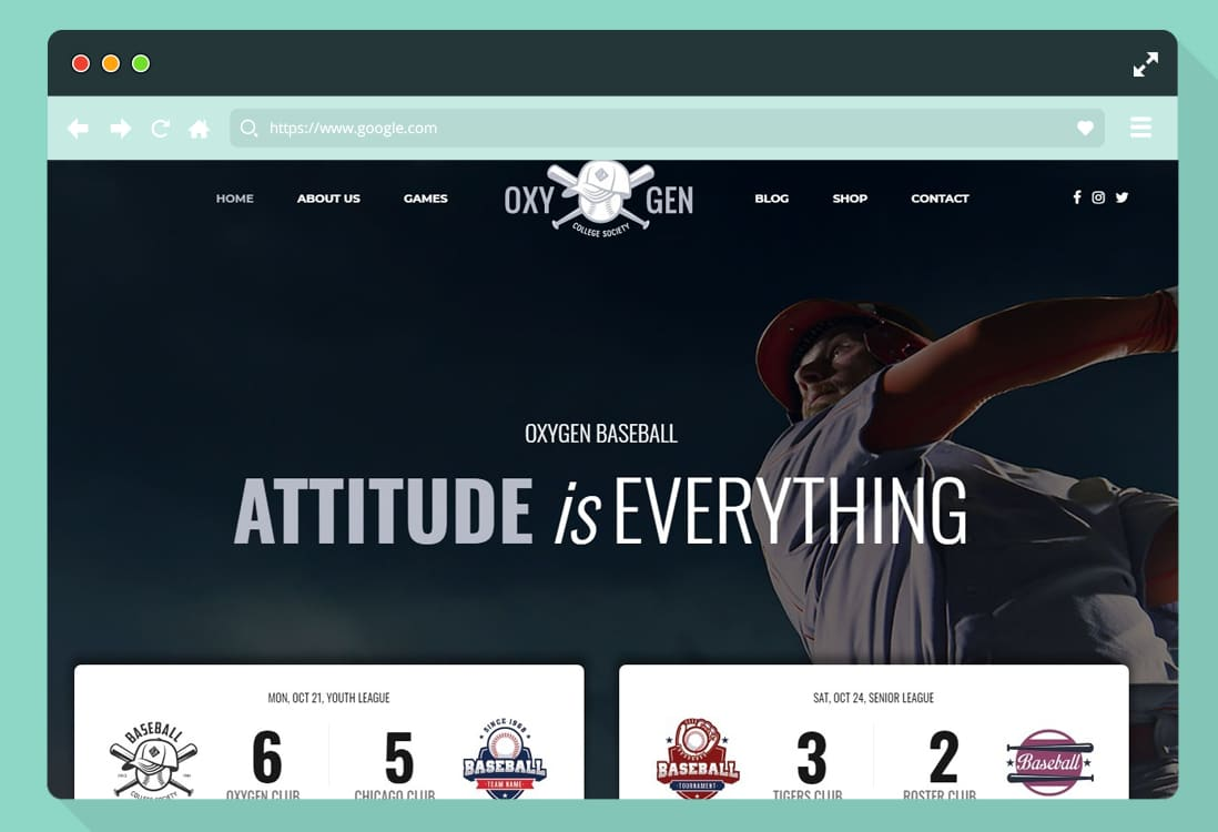 softball website templates wordpress