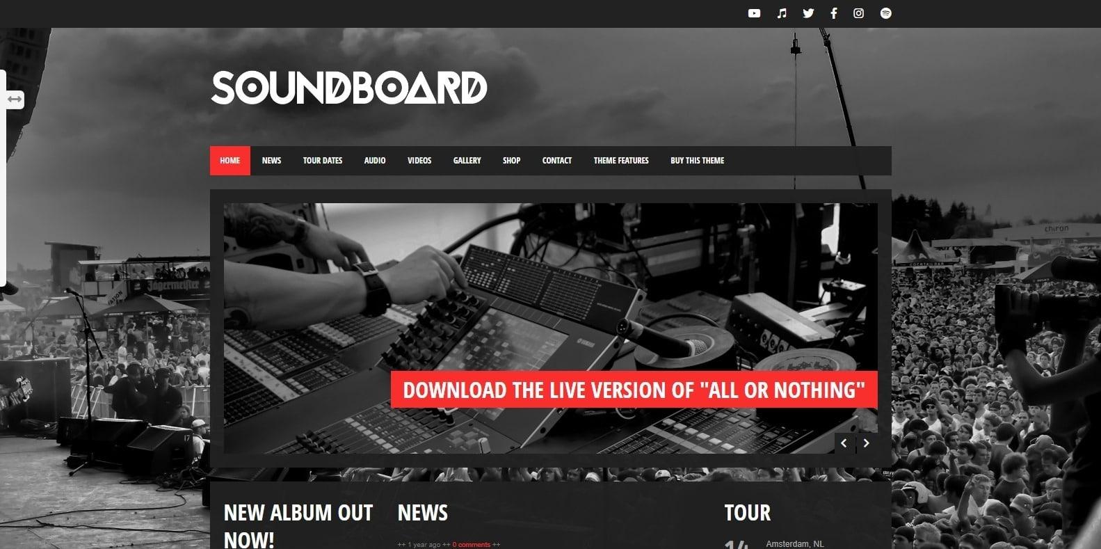 soundboard-recording-studio-website-template