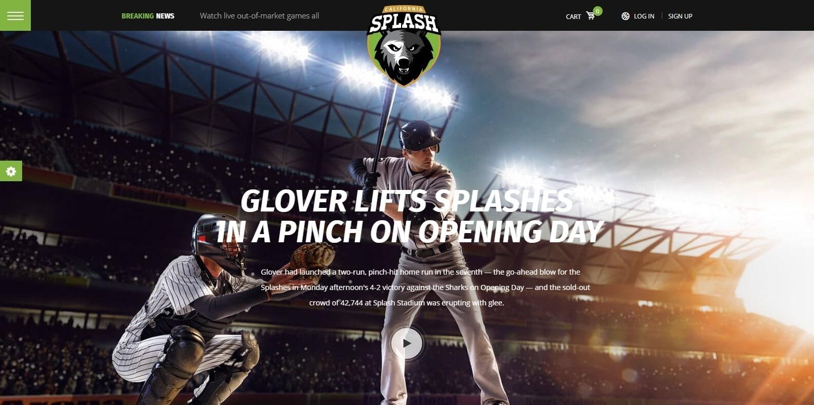 splash-softball-website-template-wordpress