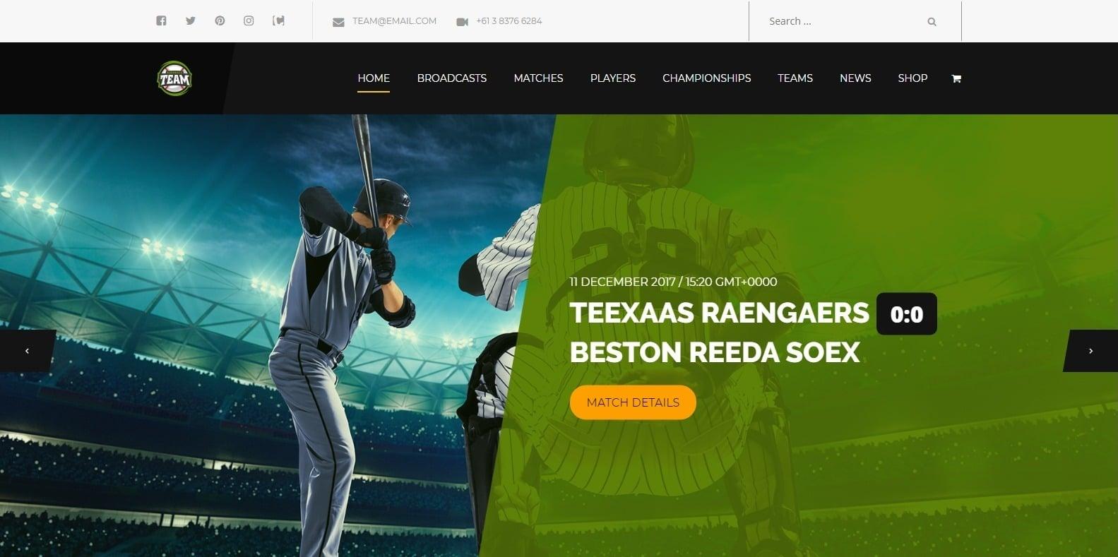team-softball-website-template-wordpress