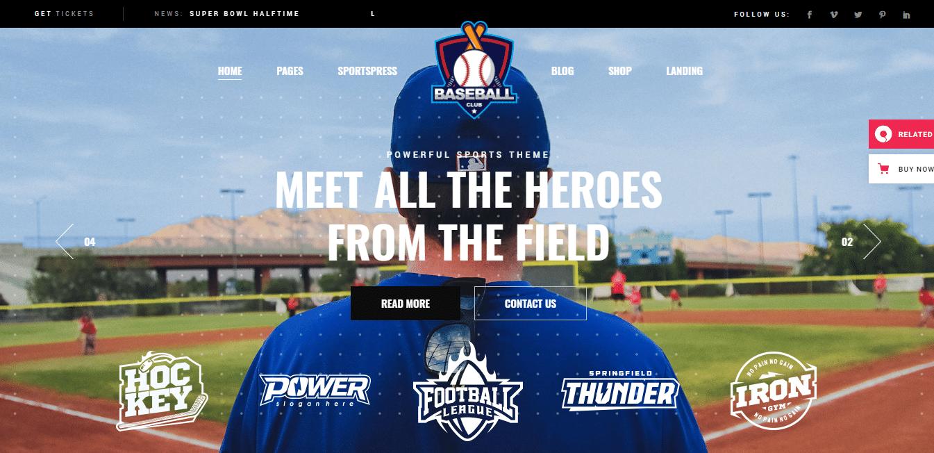 topscorer-softball-website-template