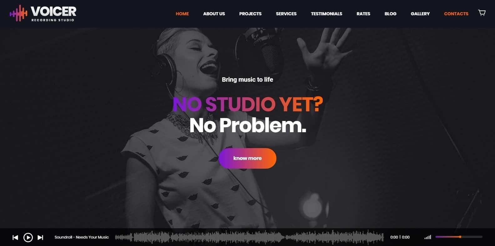 voicer-recording-studio-website-template
