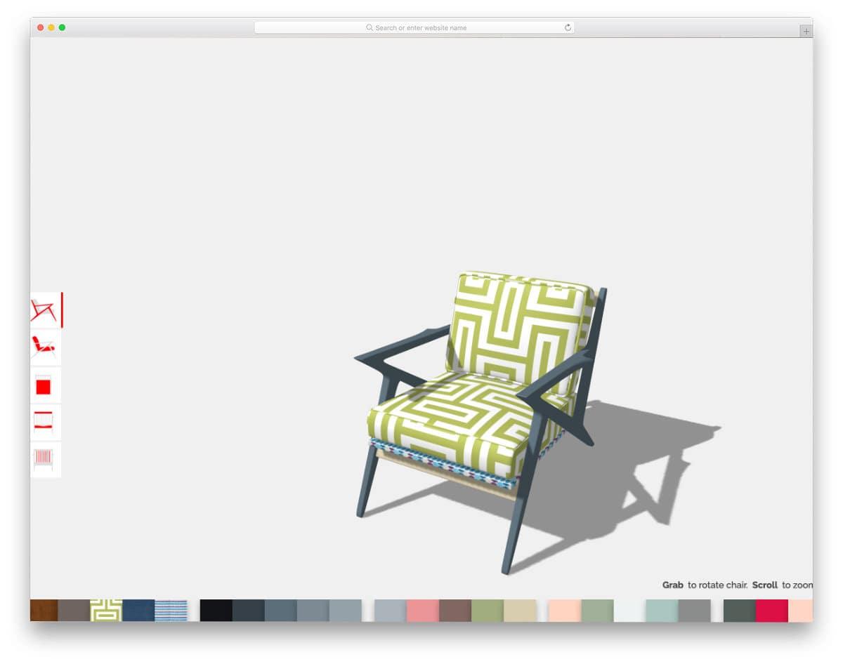 threeJS product customization tool concept