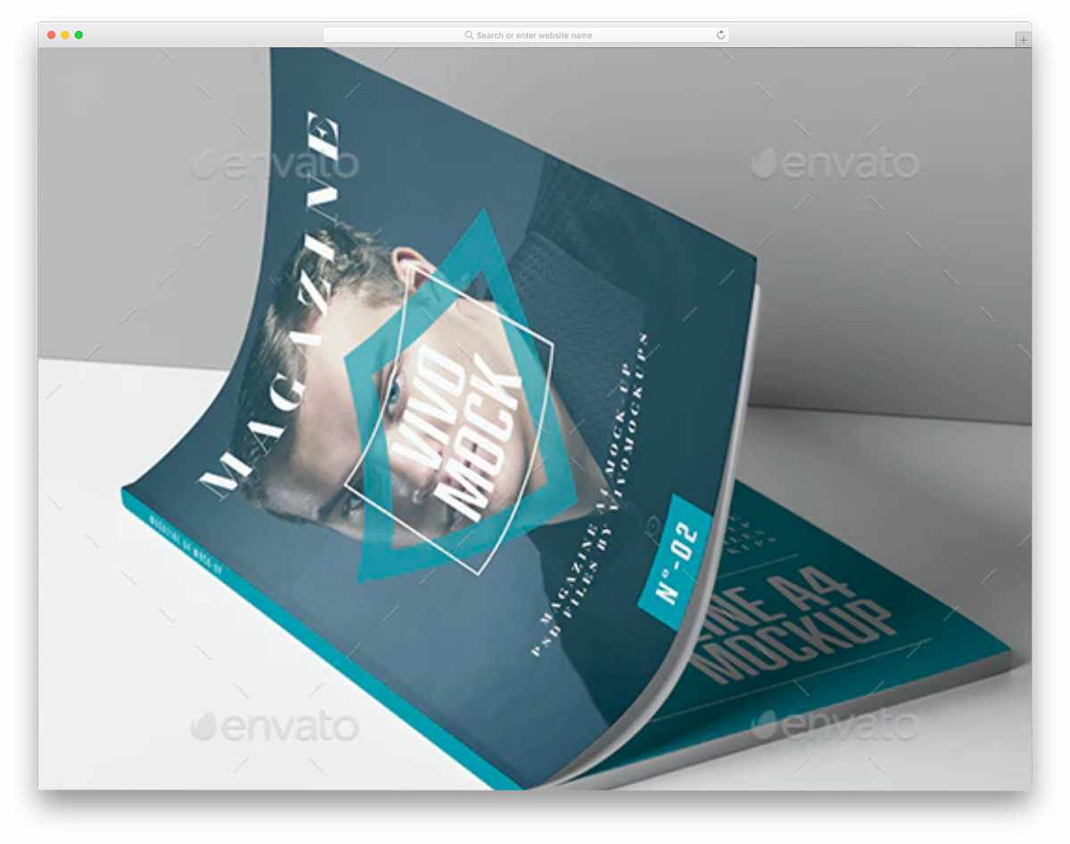 simple magazine mockup