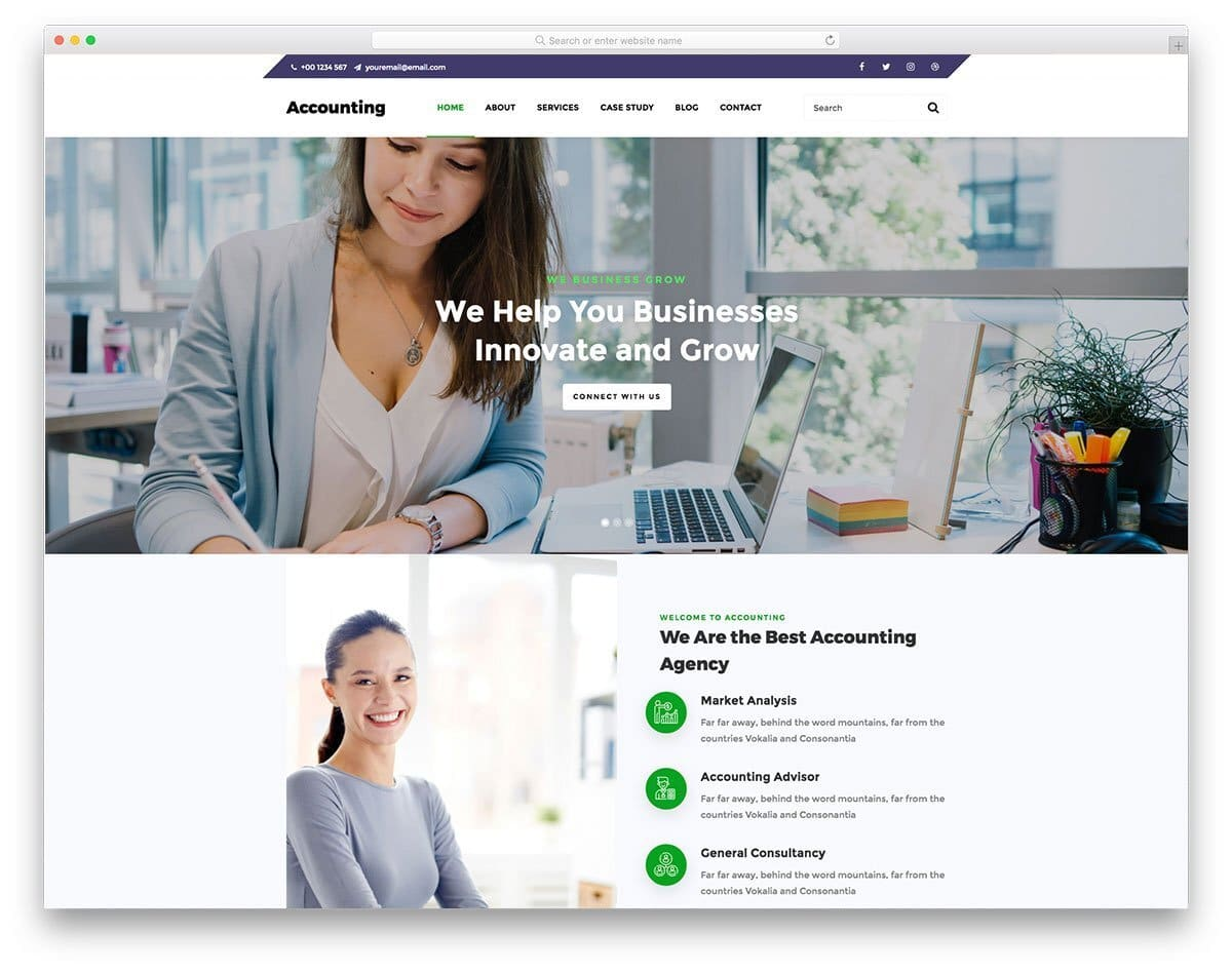 website template for content-rich websites
