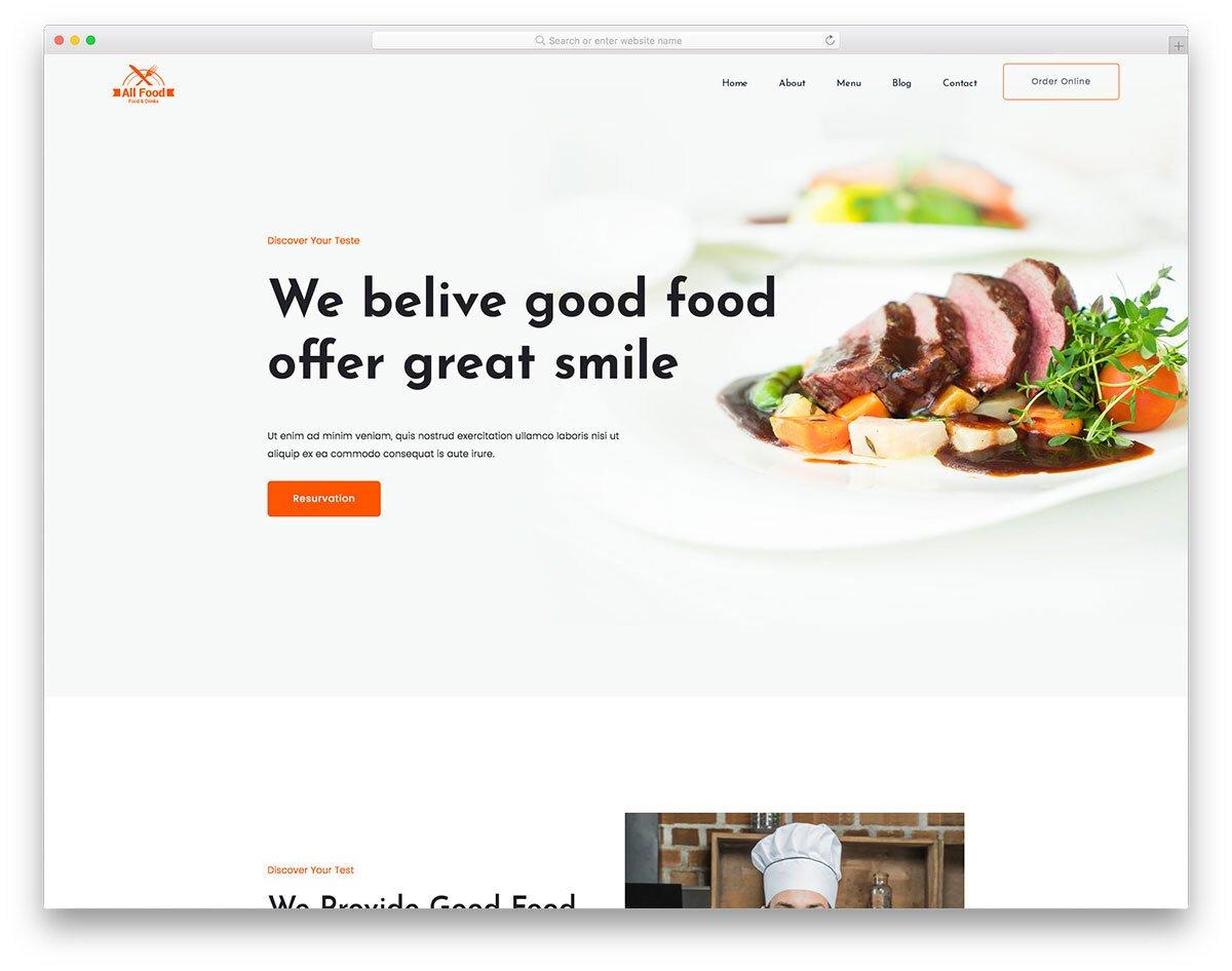 rich restaurant website template