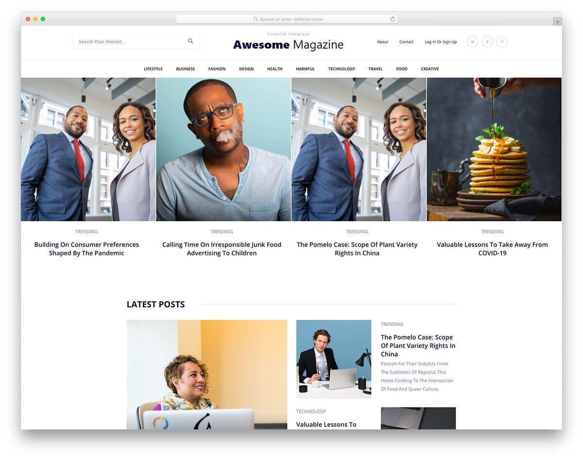 future-proof blog template and magazine template