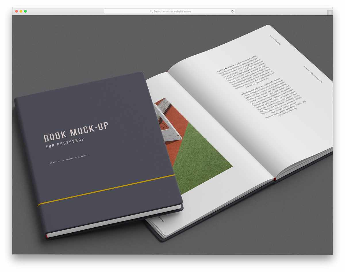 book mockup with useful customization options