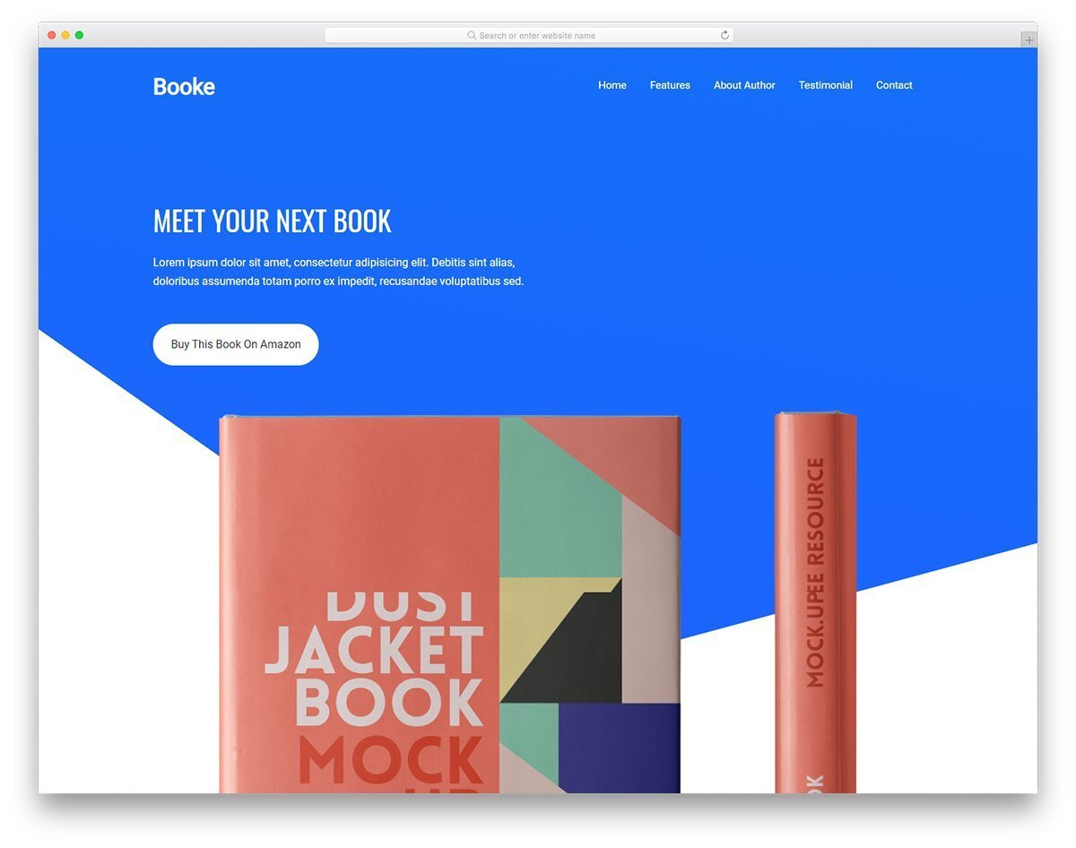landing page for books