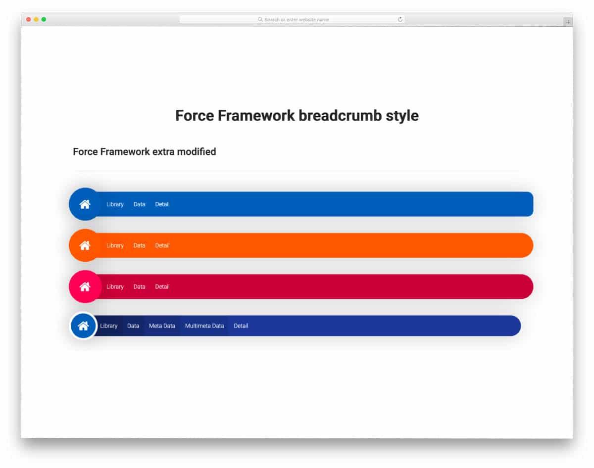 breadcrumb navigation design