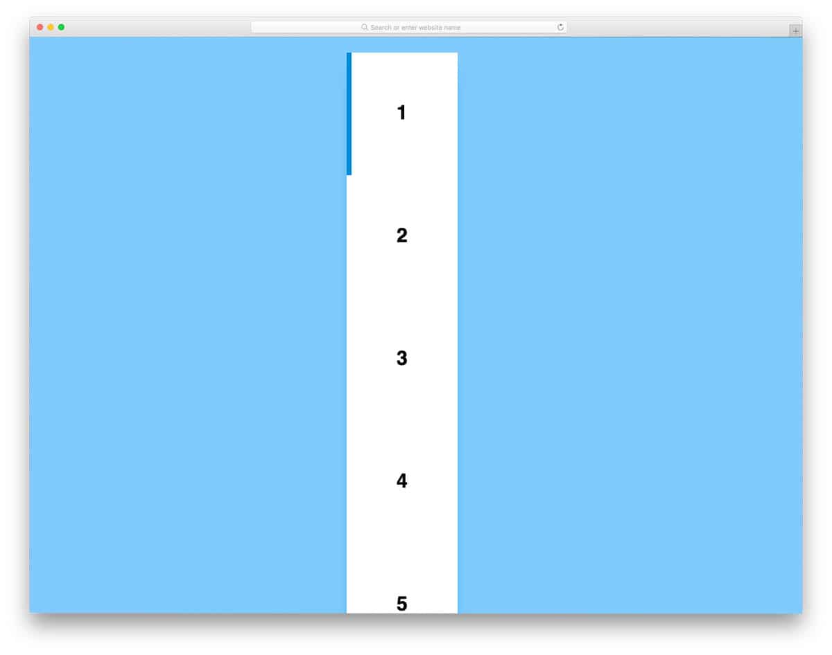 animated vertical pagination