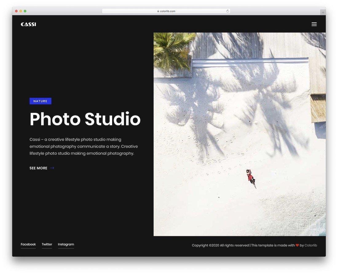 premium-looking free website template